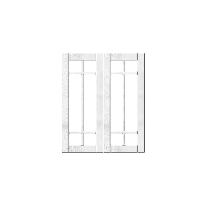 Шкаф «Тапио» настенный 2V/60-29-2 белый/дуб полярный