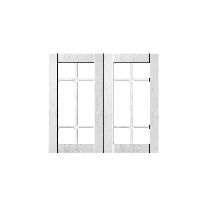 Шкаф «Тапио» настенный 2V/80-29-2 белый/дуб полярный