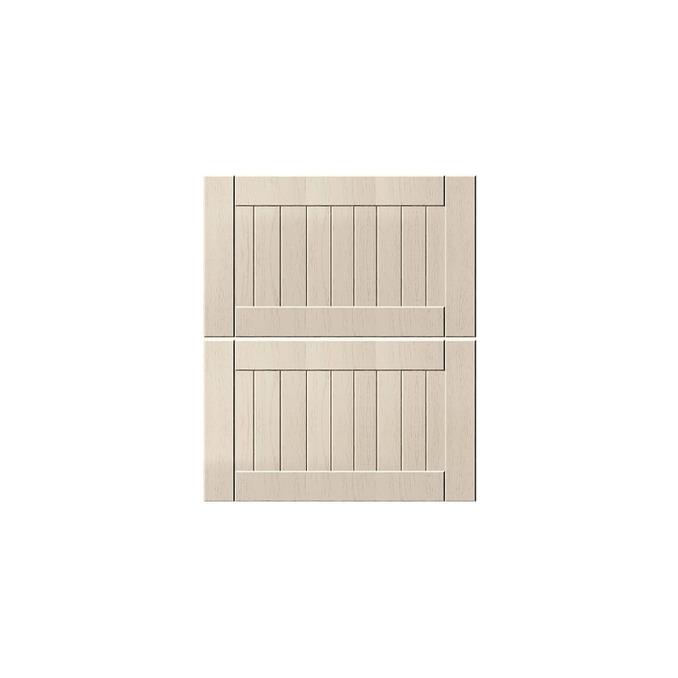 Шкаф «Тапио» настенный 2DG/80-29-2 белый/дуб снежный