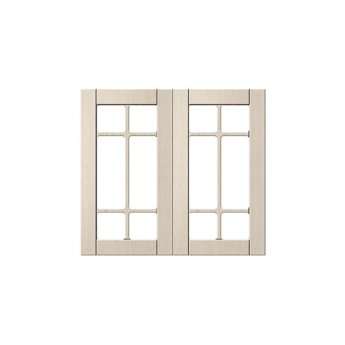 Шкаф «Тапио» настенный 2V/80-29-2 белый/дуб снежный