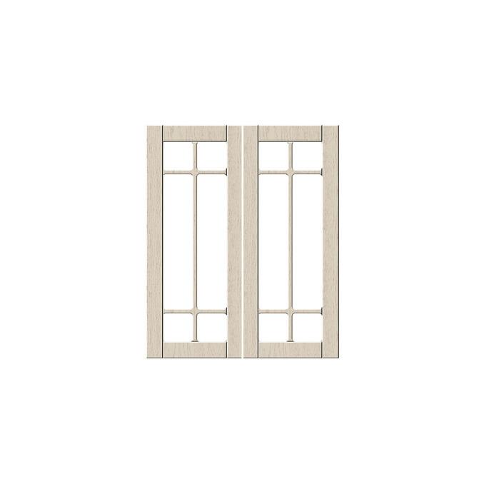 Шкаф «Тапио» настенный 2V/60-29-2 белый/дуб снежный