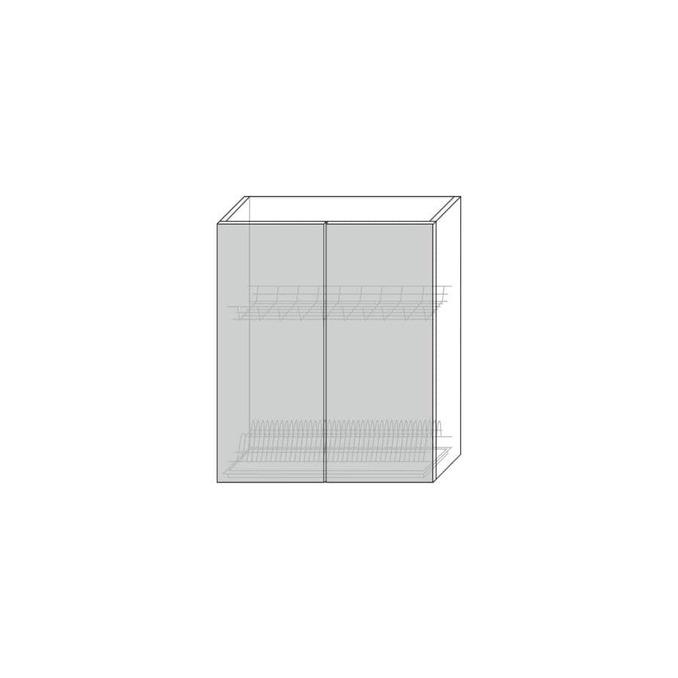 Шкаф для сушки «Вилма» 2D/60 белый глянец
