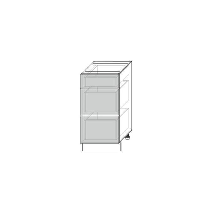 Шкаф для кухни «Вилма» 3S/40 белый глянец