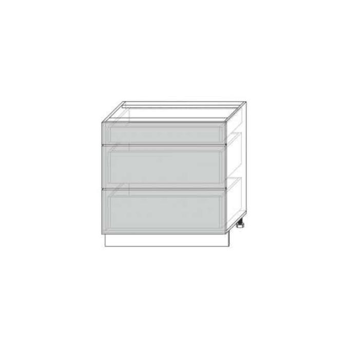 Шкаф для кухни «Вилма» 3S/80 белый глянец