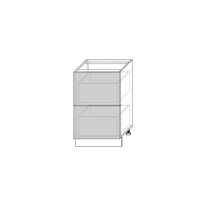 Шкаф для кухни «Вилма» 2S/60 белый глянец