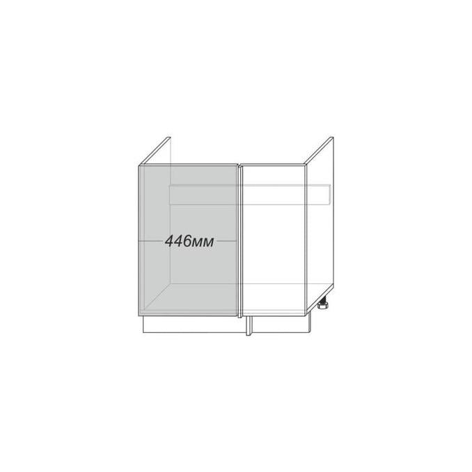 Шкаф под мойку «Вилма» угловой 1D/80-1-51 белый