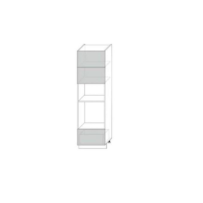 Шкаф-пенал «Вилма» 2DG1S белый глянец
