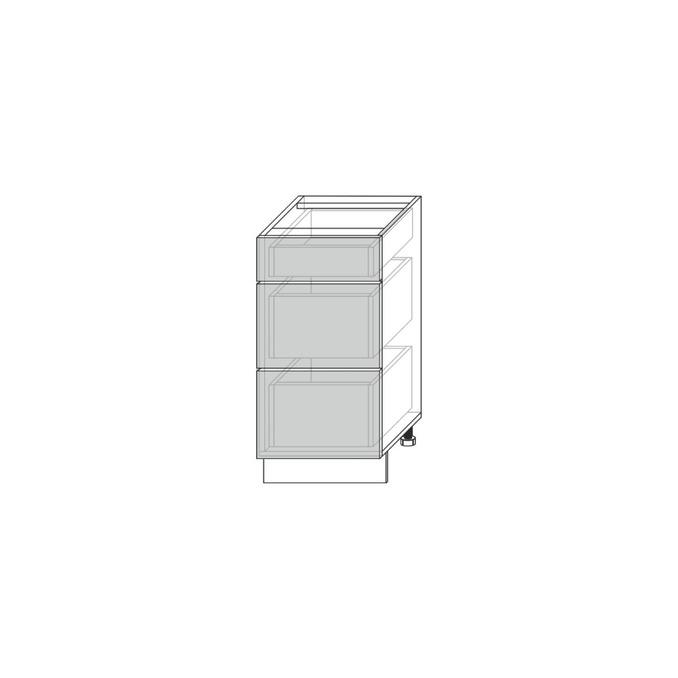 Шкаф для кухни «Вилма» 3S/50 белый глянец