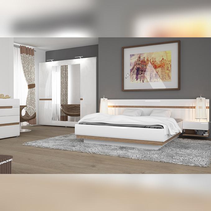 Спальня «Линате» белый глянец