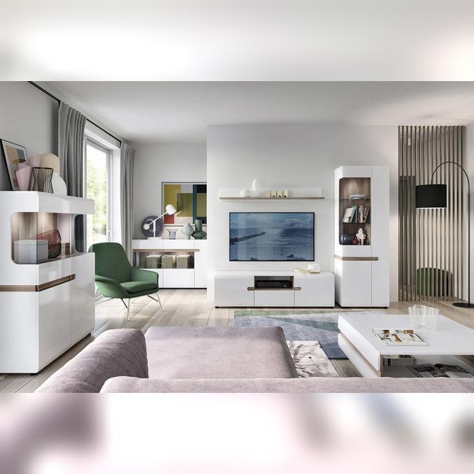 Модульная гостиная «Линате» 4 белый глянец