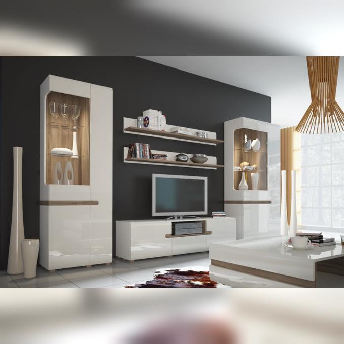 Модульная гостиная  «Линате» 2 белый глянец