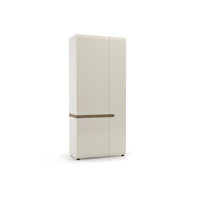Шкаф «Линате» 2D/TYP 20A двухстворчатый белый глянец