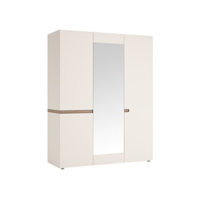 Шкаф «Линате» 3D/TYP 22A трехстворчатый белый глянец