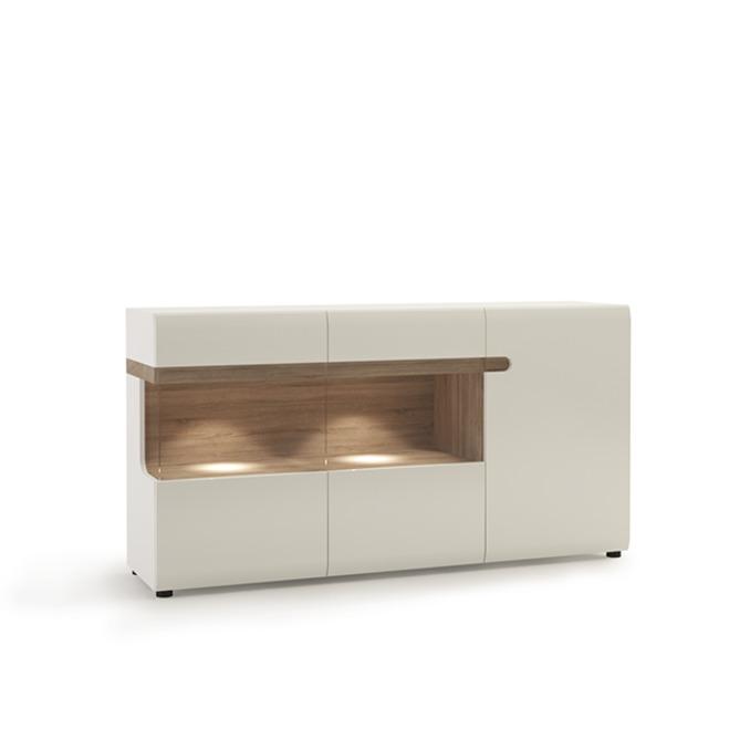 Тумба комод «Линате» 3D/TYP 42 белый глянец
