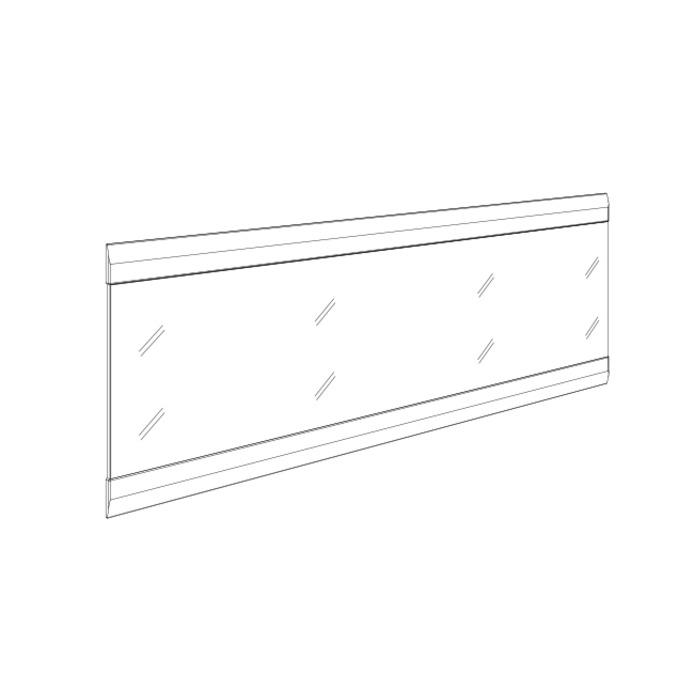 Зеркало настенное «Линате» 110см TYP 122 белый глянец