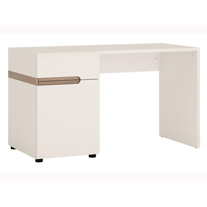 Стол письменный «Линате» TYP 80 однотумбовый белый глянец