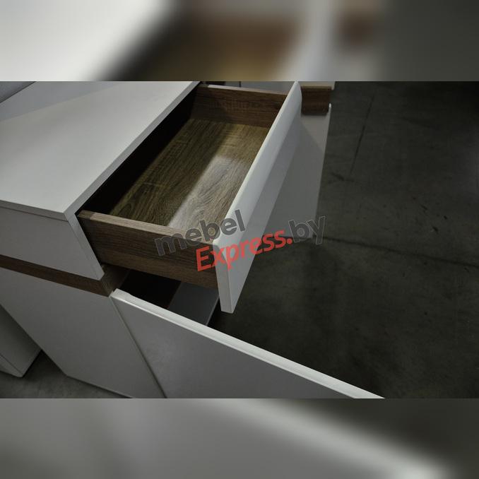 Комод «Линате» 2D-1S/TYP 34 белый глянец