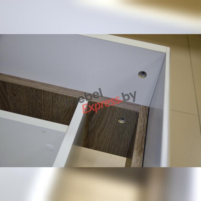 Кровать «Линате» 140 полуторная с подъемником - белый глянец