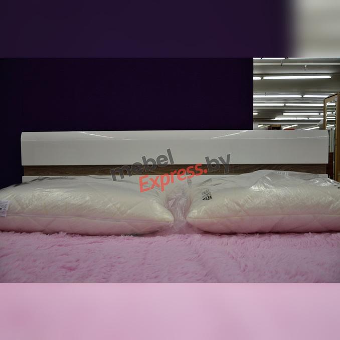 Кровать «Линате» 140 полуторная - белый глянец
