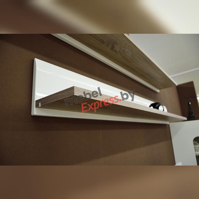 Полка настенная «Линате» TYP 60 150см белый глянец