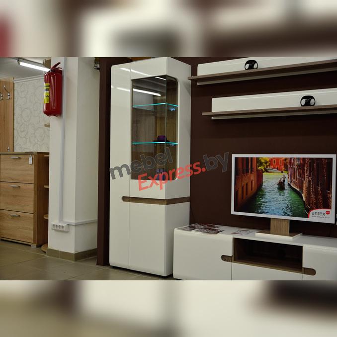 Шкаф с витриной «Линате» 3D/TYP 01L белый глянец