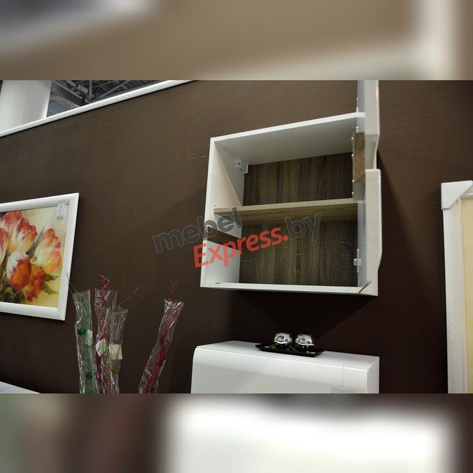 Шкаф навесной «Линате» 1D/TYP 65 белый глянец