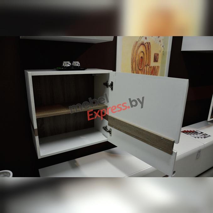 Шкаф навесной «Линате» 1D/TYP 66 белый глянец