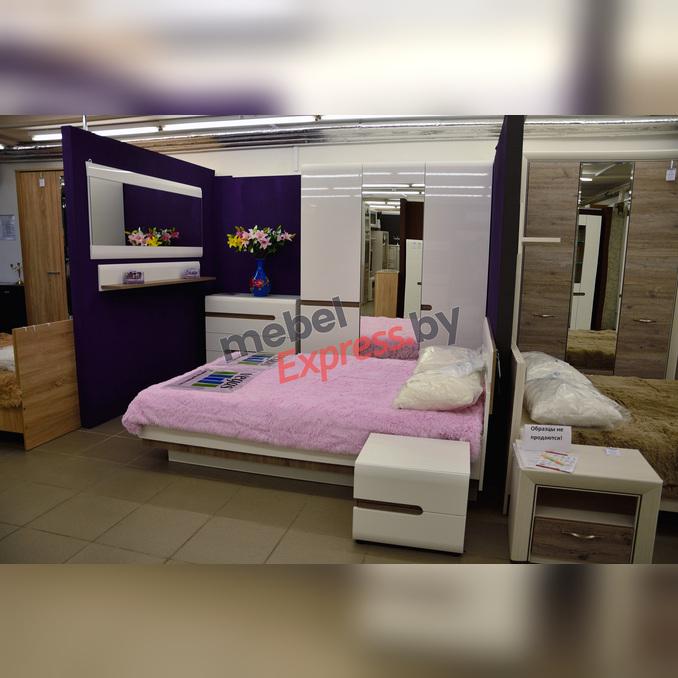 Спальня «Линате» 3 белый глянец