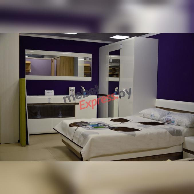 Спальня «Линате» 4 белый глянец