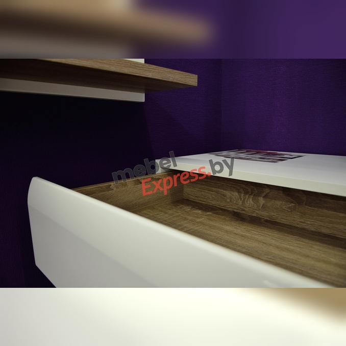 Прикроватная тумба «Линате» 2S/TYP 96 белый глянец