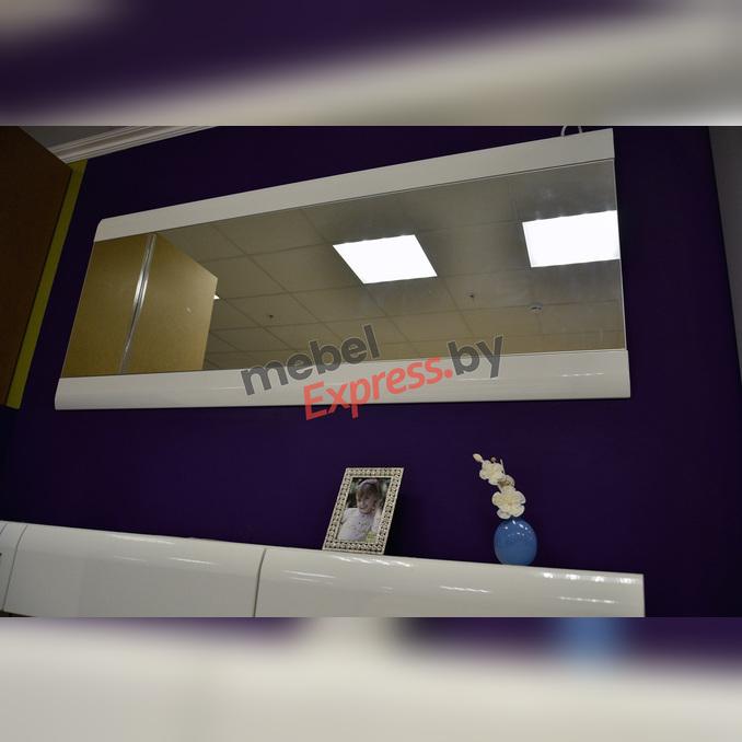 Зеркало настенное «Линате» 165см TYP 121 белый глянец