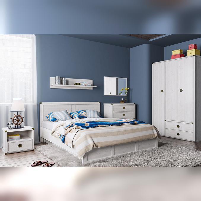 Спальня «Магеллан» - светлая (сосна винтаж)