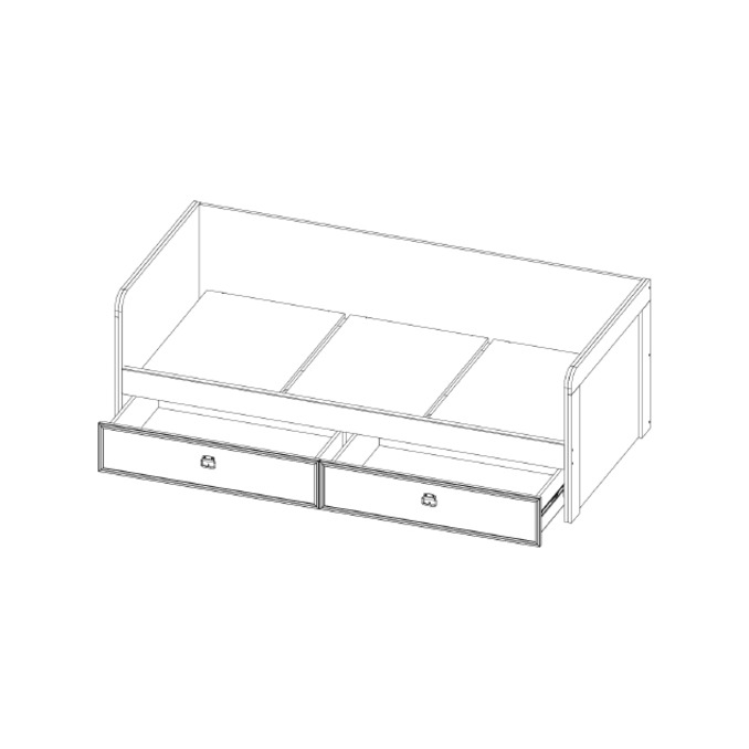 Кровать-тахта «Магеллан» 90-2 односпальная с 2 ящиками