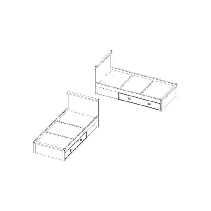 Кровать «Магеллан» 90 односпальная с ящиком
