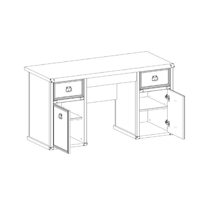 Стол письменный «Магеллан» 2D3S двухтумбовый