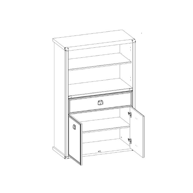 Шкаф открытый «Магеллан» 2D1S низкий