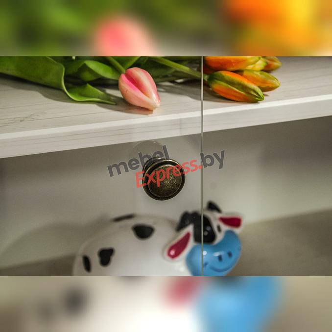 Шкаф с витриной «Магеллан» 2V2D1SL низкий