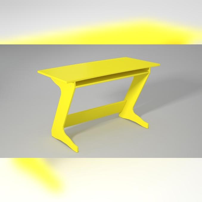 Парта Юнпион 120 желтая