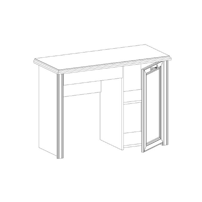 Стол письменный «Монако» 1D1S - однотумбовый