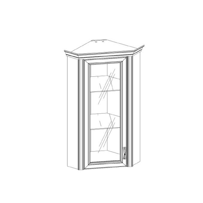 Шкаф-витрина «Монако» 1VU угловой