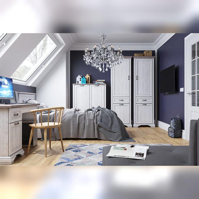Шкаф-пенал «Монако» 2D1S одностворчатый