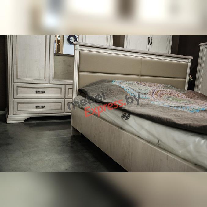 Кровать «Монако» 160 M двуспальная с мягким изголовьем
