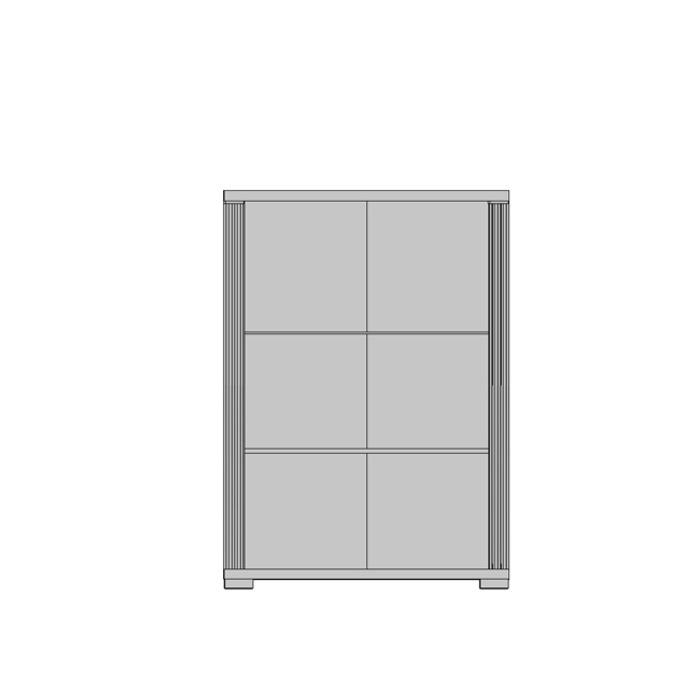 Шкаф-витрина «Монте» 2VL - венге темный