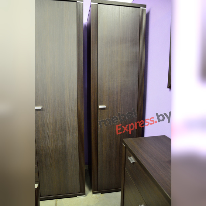 Шкаф-пенал «Монте» 1DG платяной одностворчатый - венге темный