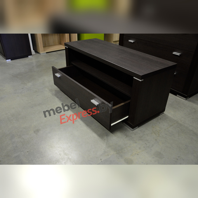 Тумба под телевизор «Монте» RTV 1S 100 см - венге темный