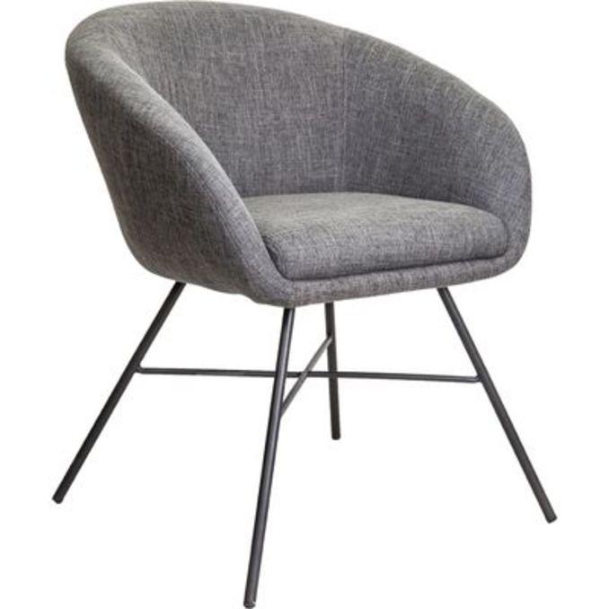 Кресло Амур серая ткань
