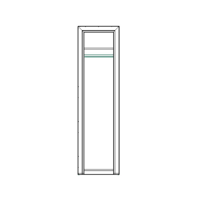 Шкаф «Оливия» одностворчатый с полками 1DG