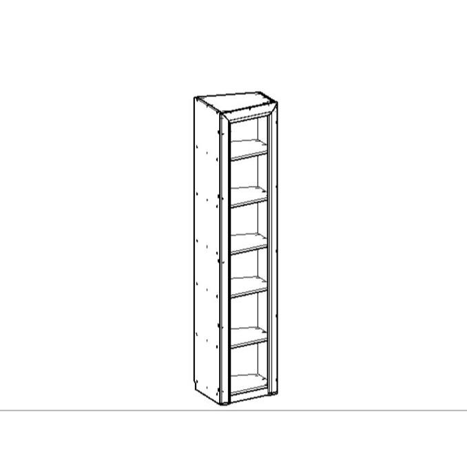 Шкаф-пенал «Оливия» скошенный 1DT L