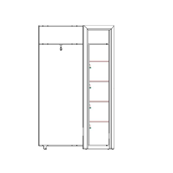 Шкаф угловой «Оливия» одностворчатый  с полками 97x97