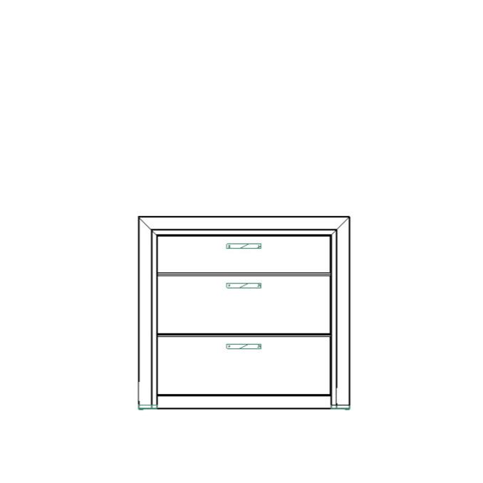 Комод «Оливия» 3S 3 ящика